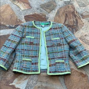 Tibi jacket blazer tweed green M
